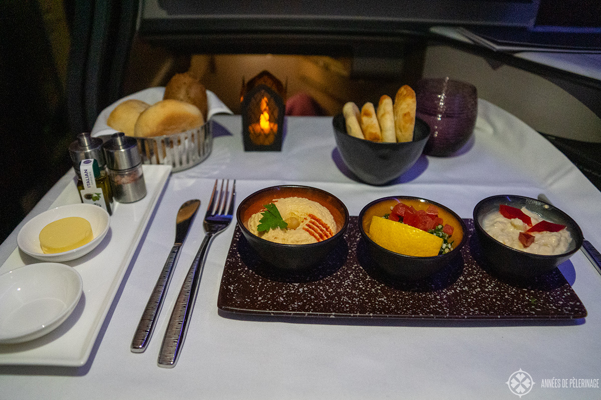 A typical business class starters