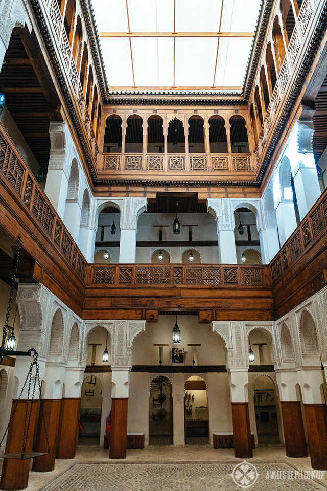 The Amazing Funduq al-Najjariyyin where you will find the Museum of Wooden Arts and Crafts in Fez