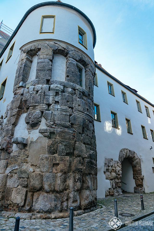 "The Roman gate ""Porta Praetoria in the old town of Regensburg"