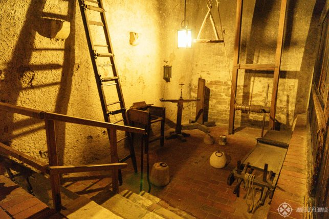 The torture chamber on the first floor of the town hall - one of the many places to visit in Regensburg