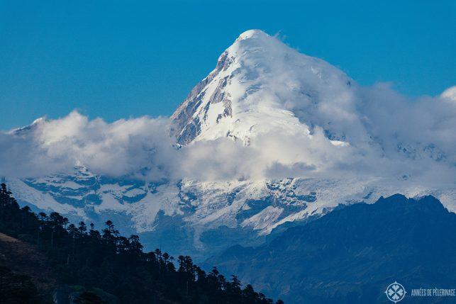 Jomolhari peak in early November - it's the second highest mountain in Bhutan