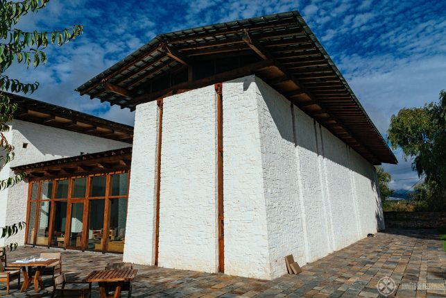 The main lodge of Amankora Bumthang