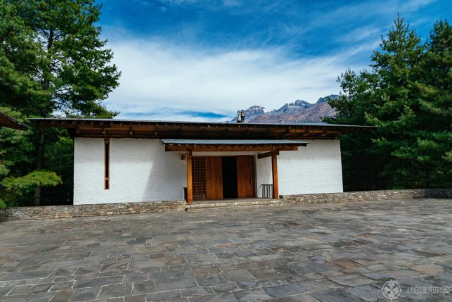 The lobby of Amankora Paro in Bhutan