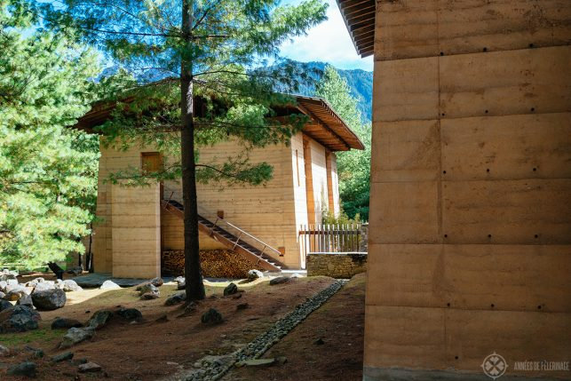 The guest rooms at the Paro Lodge of Aman Bhutan