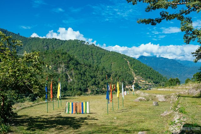 the beautiful archery ground of the Punakha lodge