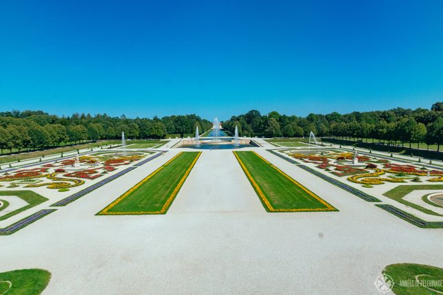 The baroque park of Schleissheim Palace in Munich