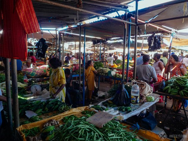 The market in Centre Flacq - the best place to go shopping in Mauritius