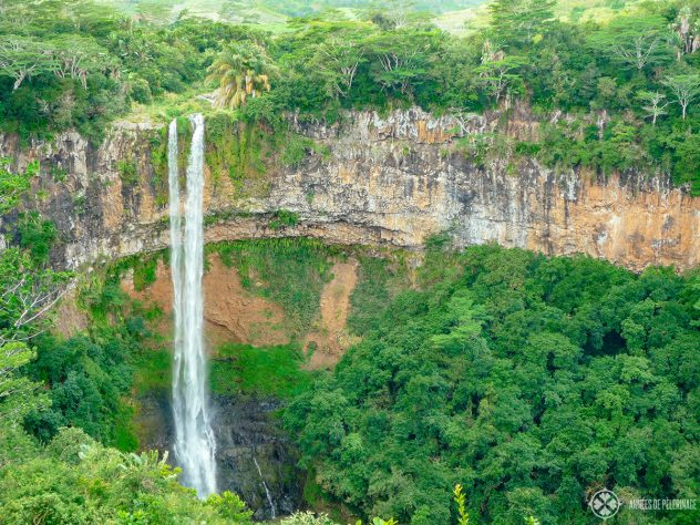 Another picture of the Chamarel Waterfalls - one of the best places to see in Mauritius