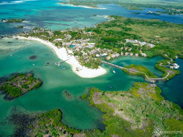 The Constance Prince Maurice hotel form above - probably the best luxury hotel in Mauritius