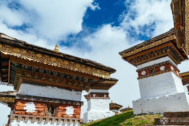 The memorial stupas at Dochula Pass - a favorite photography site in Bhutan