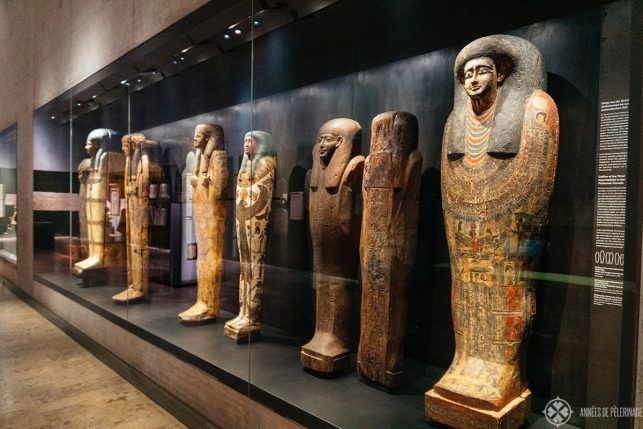The sarcophagi collection of the museum