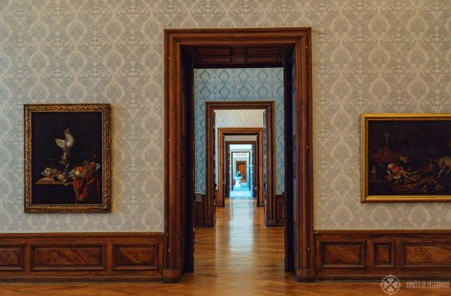 The art gallery inside Schleissheim Palace