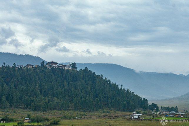 Gangtey Monastery above  Phobjkha valley
