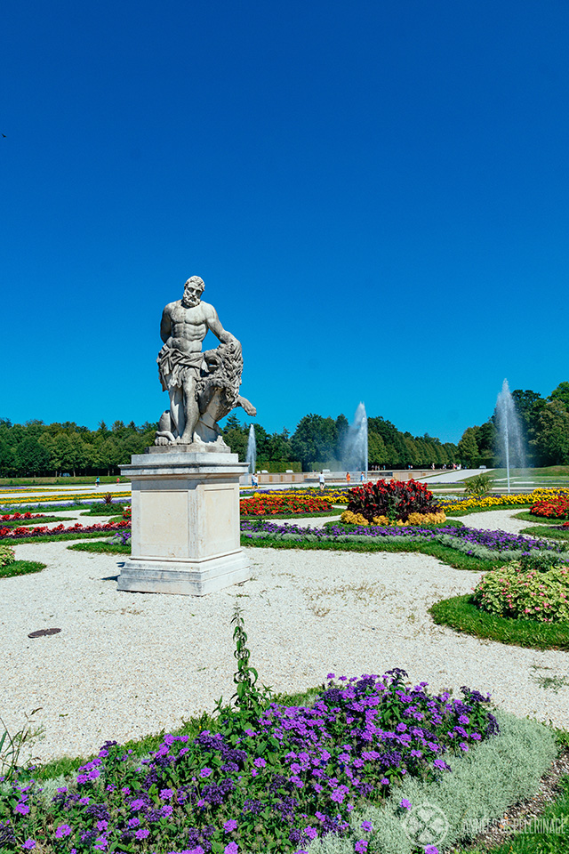 Statue in the garden of Schleissheim Palace