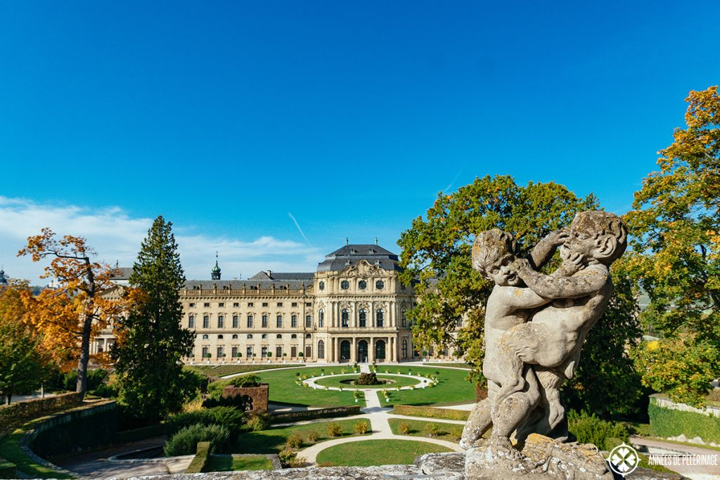 The beautiful gardens of the Würzburg Residence