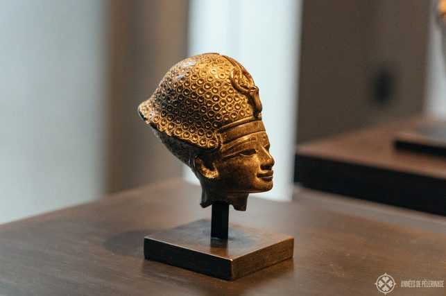 A delicate little head of Pharaoh Thutmose IV