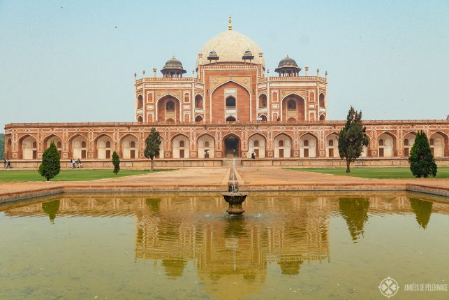 Humayun's tomb as seen from the gardens