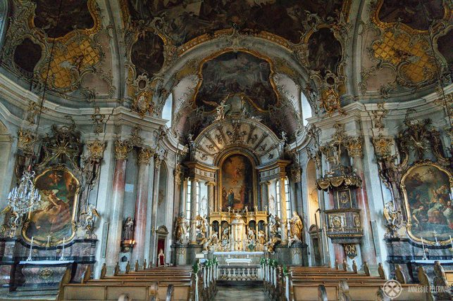 Inside the Käppele Sanctuary - the only big church to survive World War II in Würzburg