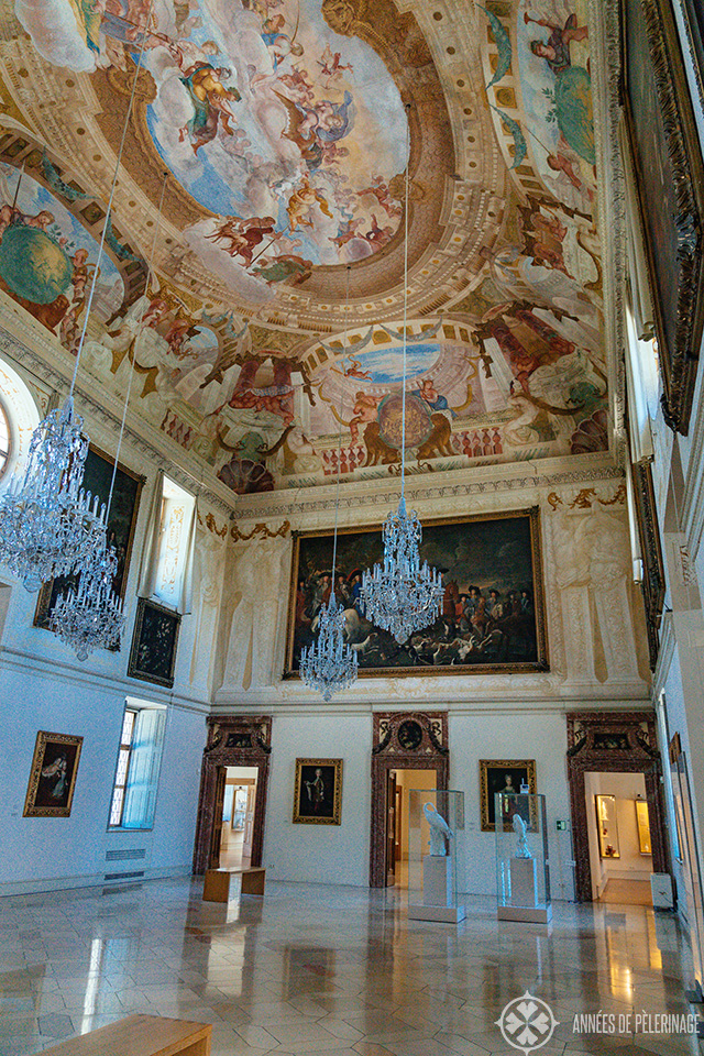 Inside Lustheim palace near Munich