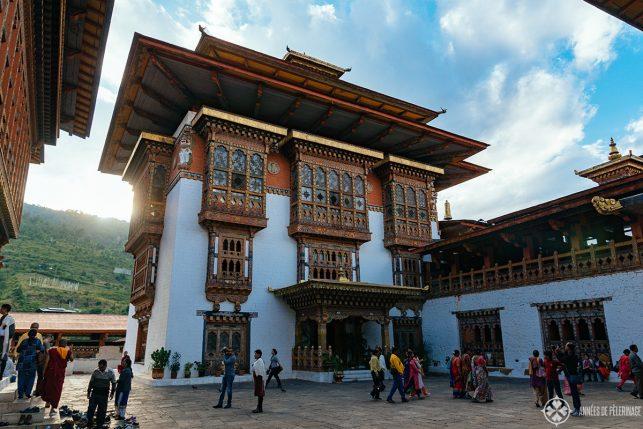 A courtyard inside Inside Punakha Dzong, Bhutan