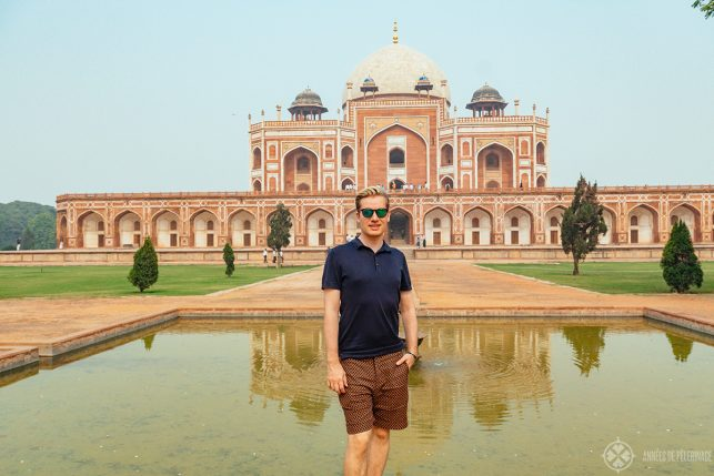 Me, in front of the Tomb of the Mughal Emperor Humayun