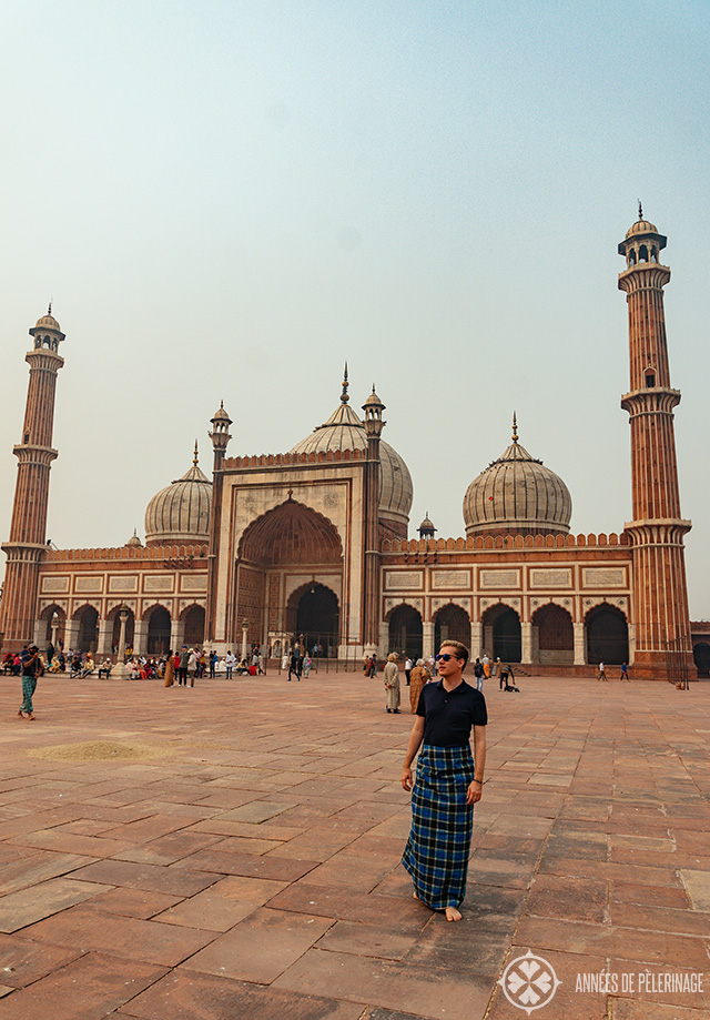 Me in front of the Jama Masjid Mosque