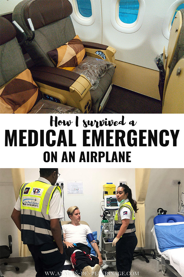 A full account how I survived a medial emergency on an airplane and what happened next.