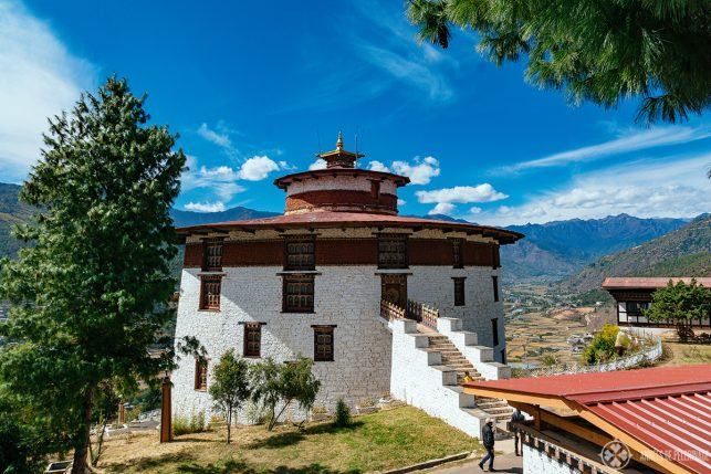The round tower of the National Museum of Bhutan