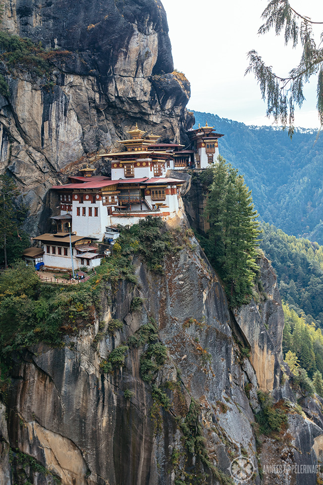 Vertical view of the Taktsang Paro complex.