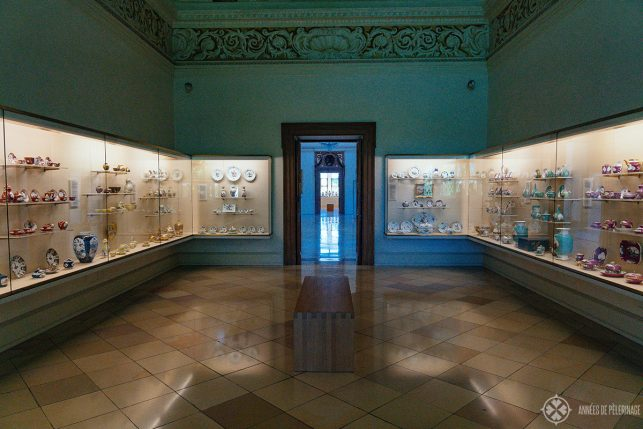 The porcelaine museum inside Lustheim palace