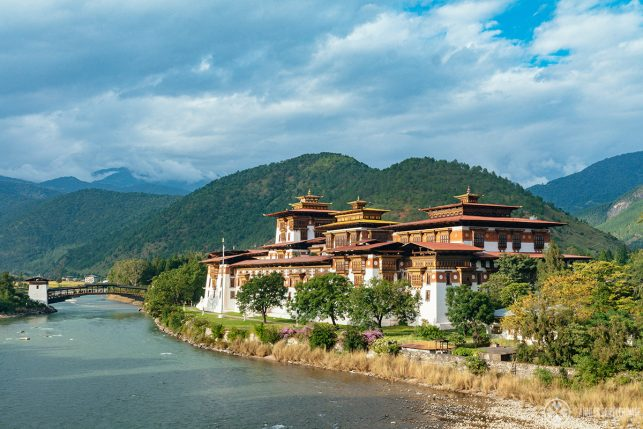 Punakha Dzong - the best time to visit Bhutan is probably autumn.