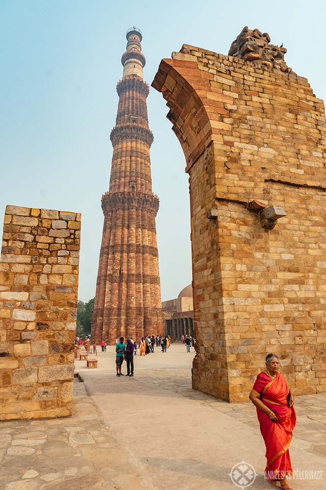 View of the 240 feet tall Qutb Minar - one of the best places to visit in Delhi