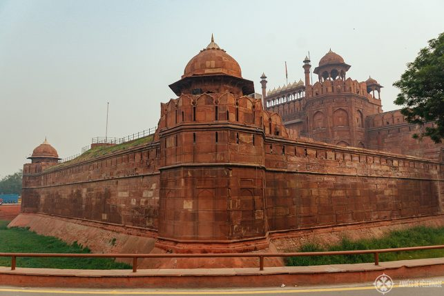 The famous Red Fort in Old Delhi