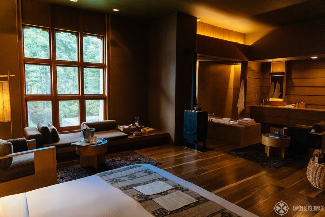 The typical layout of the rooms at Amankora Bhutan