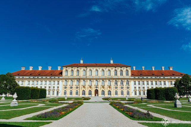 Front view of Schleissheim Palace in Munich