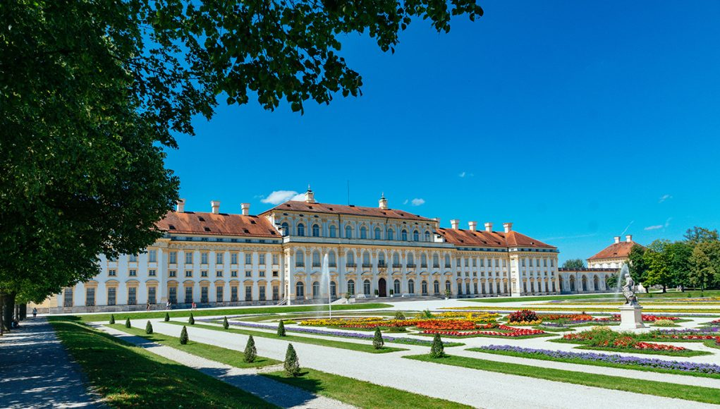 Schleissheim Palace as seen from the park. One of the top tourist attractions in Munich, Germany