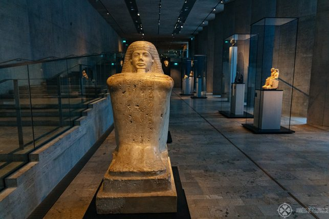Block statue of Bekenchons, high priest of Amun at the Egyptian Museum in Munich
