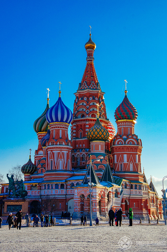 The iconic St. Basil's Cathedral on the Red Square  - one of the best things to see in Moscow, Russia