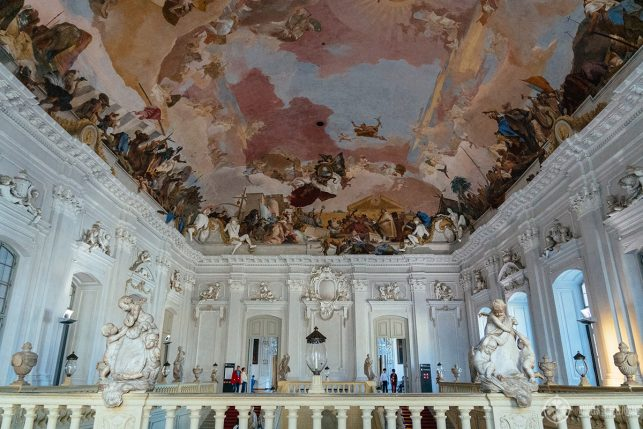The largest ceiling fresco in the world inside the Würzburg Residence Palace - a UNESCO World Heritage site