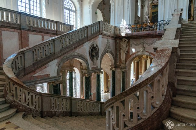 View of the staircase in Schleissheim Palace Munich
