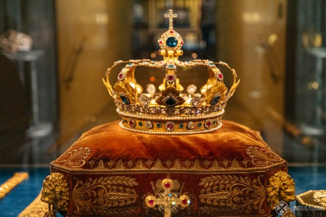 The crown of the Bavarian kings inside the Munich Residence palace