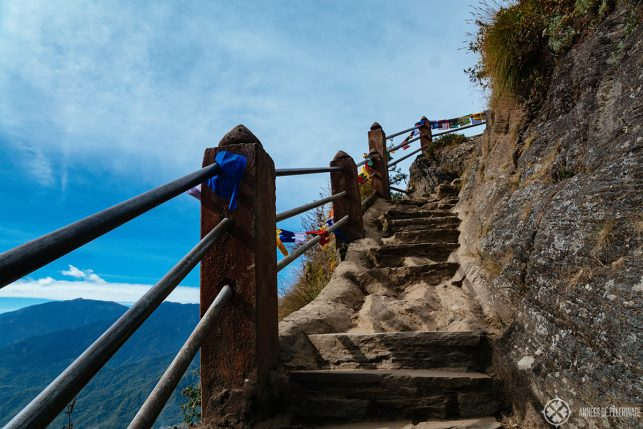 Another picture of the stairs close before you arrive at the Taktsang Paro