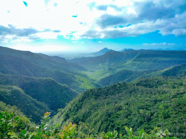 A beautiful mountain valley in the South of Mauritius