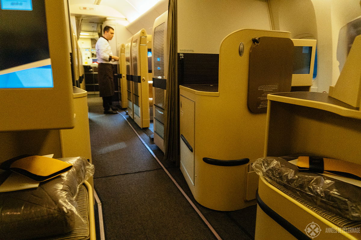 View from business class into first-class