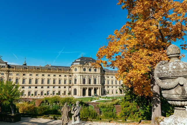 The Würzburg Residence palace only a short day trip away from Munich
