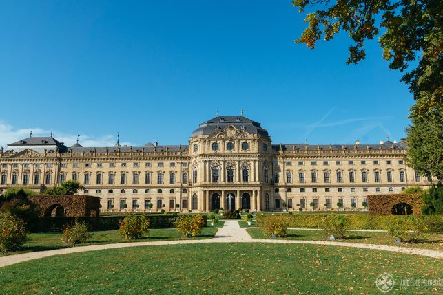 The backside of the Würzburg Residence - the best place to visit in Würzburg