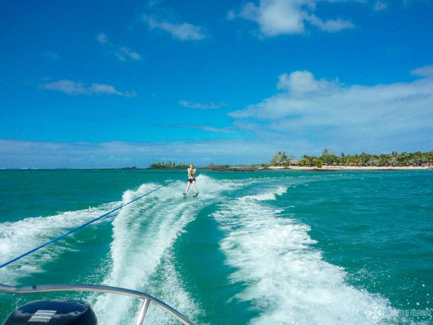 Me on Water ski in mauritius - the perfect place to do so.
