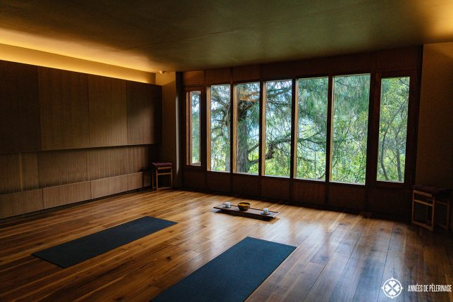 The yoga room in Punakha