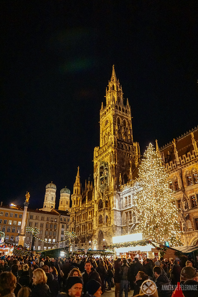 The christkindl markt on Marienplatz in Munich
