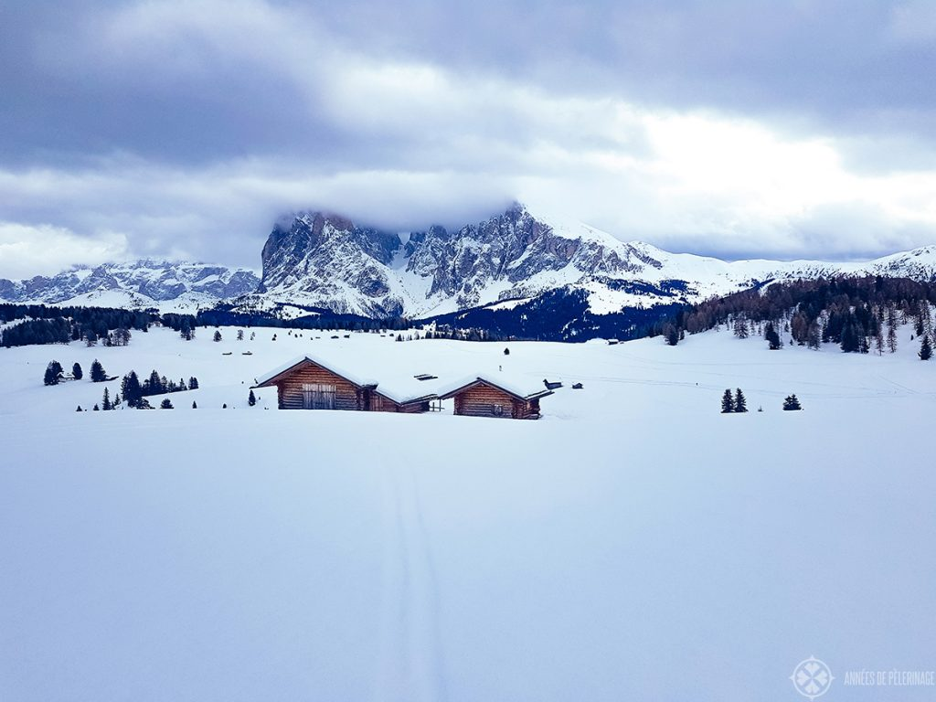 One of the rare cloudy days at the Alpe di Siusi